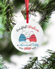 Our First Christmas As Mommy And Daddy Circle ornament - single (porcelain) aos-circle-ornament-single-porcelain-lifestyles-07