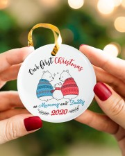 Our First Christmas As Mommy And Daddy Circle ornament - single (porcelain) aos-circle-ornament-single-porcelain-lifestyles-08