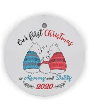 Our First Christmas As Mommy And Daddy Circle ornament - single (wood) thumbnail