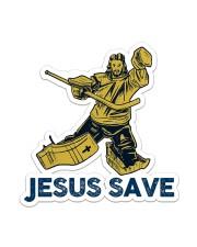 Hockey Jesus Save Sticker - Single (Vertical) front
