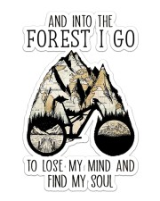 Cycling And Into The Forest I Go Sticker - Single (Vertical) front