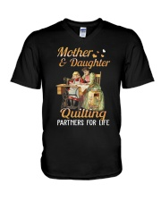 Quilting Partners For Life V-Neck T-Shirt thumbnail