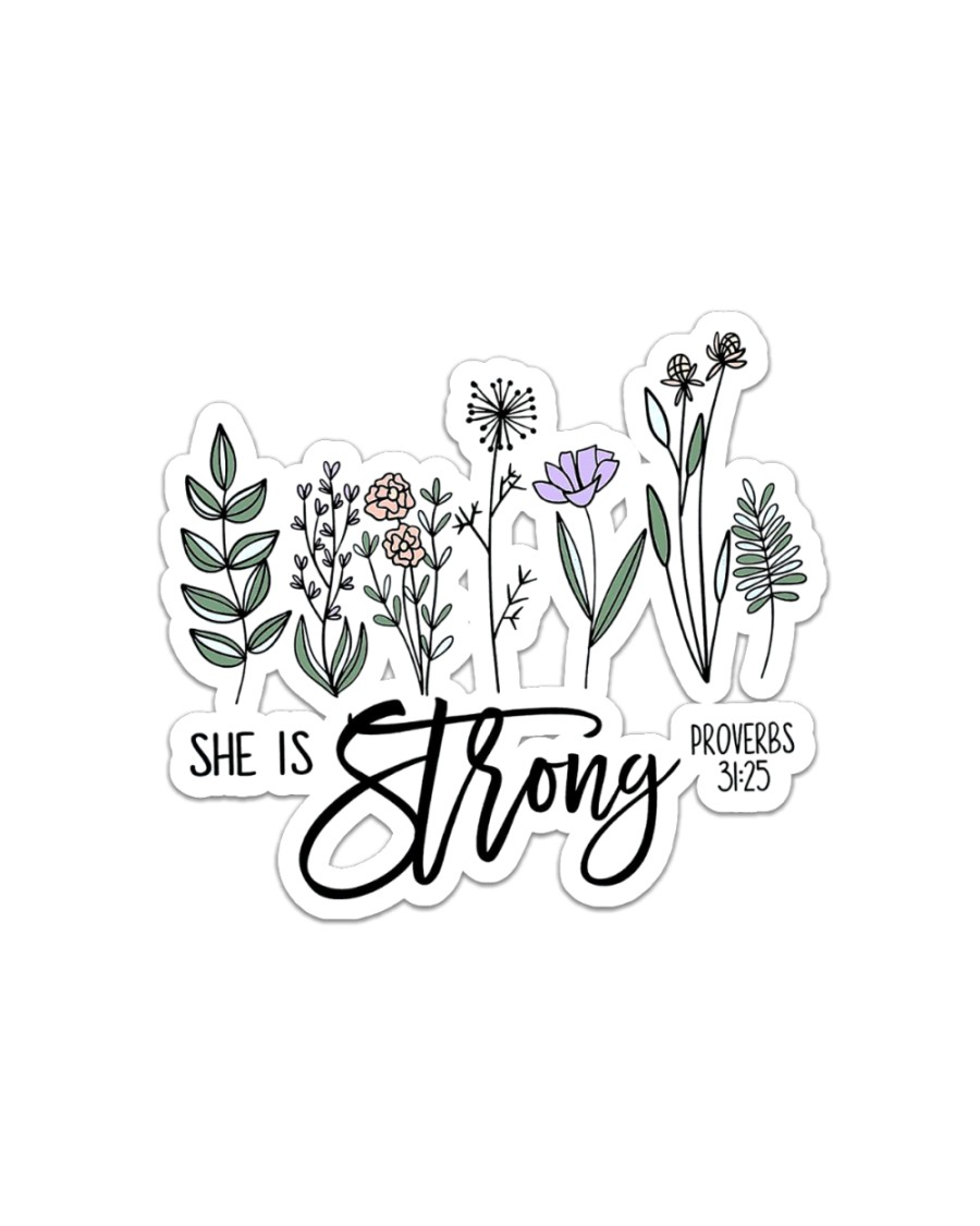 She Is Strong  Sticker - Single (Horizontal)
