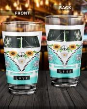 Peace Car 16oz Pint Glass aos-16oz-pint-glass-lifestyle-front-14