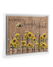 Always Humble And Kind 14x11 White Floating Framed Canvas Prints front