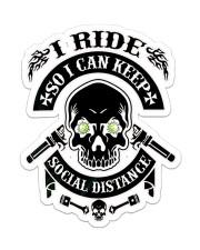 Biker Social Distance Sticker - Single (Vertical) front