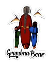Native Grandma Bear Sticker - Single (Vertical) front
