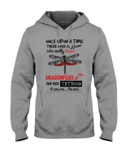 A Woman Loved Dragonflies And Had Tattoos Hooded Sweatshirt thumbnail