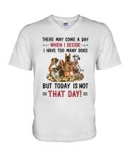 I Have Too Many Dogs V-Neck T-Shirt thumbnail