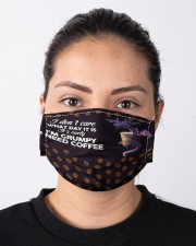 Dragon And Coffee Cloth face mask aos-face-mask-lifestyle-01