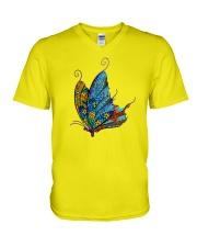 Mosaic Butterfly V-Neck T-Shirt thumbnail