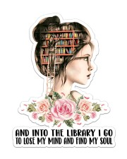 Into The Library I Go Sticker - Single (Vertical) front