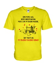 I Love My Sewing Machine V-Neck T-Shirt tile