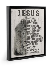 Jesus Is My King 11x14 Black Floating Framed Canvas Prints thumbnail