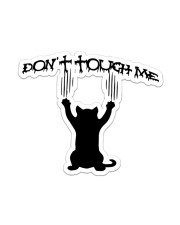 Black Cat Don't Touch Me Sticker - Single (Vertical) front