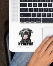 Pitbull To All My Haters Sticker - Single (Vertical) aos-sticker-single-vertical-lifestyle-front-11