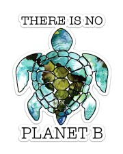 Turtle There Is No Planet B Sticker - Single (Vertical) front