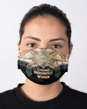 Strong Indigenous Woman Cloth face mask aos-face-mask-lifestyle-01