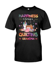 Happiness Is Being A Quilting Grandma Classic T-Shirt front