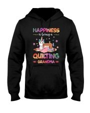 Happiness Is Being A Quilting Grandma Hooded Sweatshirt thumbnail