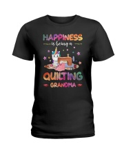 Happiness Is Being A Quilting Grandma Ladies T-Shirt thumbnail