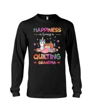 Happiness Is Being A Quilting Grandma Long Sleeve Tee thumbnail