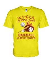 Baseball Is Importanter V-Neck T-Shirt thumbnail