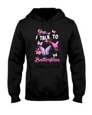 Yelp I Talk To Butterflies Hooded Sweatshirt thumbnail