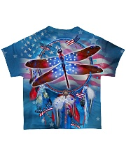 US Dragonfly Dreamcatcher All-over T-Shirt back