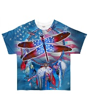 US Dragonfly Dreamcatcher All-over T-Shirt front