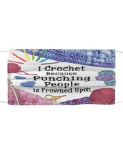 Crochet Punching Cloth face mask front