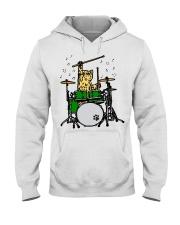 Cat Drum  Hooded Sweatshirt thumbnail