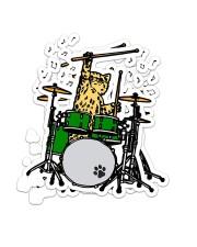 Cat Drum  Sticker tile