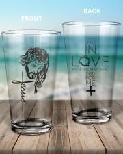 Jesus NTV 16oz Pint Glass aos-16oz-pint-glass-lifestyle-front-17