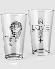 Jesus NTV 16oz Pint Glass front