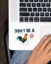 Chicken  Sticker - Single (Horizontal) aos-sticker-single-horizontal-lifestyle-front-11