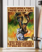 Girl Loved Horses And Cats 11x17 Poster lifestyle-poster-4
