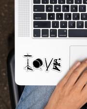 Drum Love Sticker - Single (Horizontal) aos-sticker-single-horizontal-lifestyle-front-11