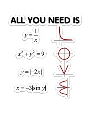 Math All You Need Sticker - Single (Vertical) front