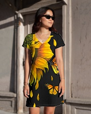 Butterfly And Sunflower All-over Dress aos-dress-front-lifestyle-1