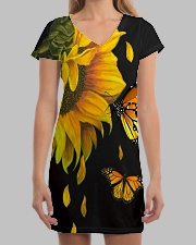 Butterfly And Sunflower All-over Dress aos-dress-front-lifestyle-3