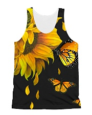 Butterfly And Sunflower All-over Unisex Tank thumbnail