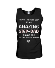 Happy Father's Day To Step Dad Unisex Tank thumbnail