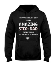 Happy Father's Day To Step Dad Hooded Sweatshirt thumbnail