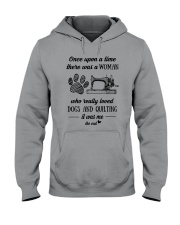 Love Quilting And Dogs Hooded Sweatshirt thumbnail