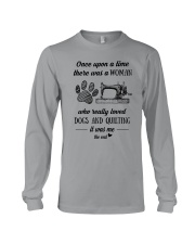 Love Quilting And Dogs Long Sleeve Tee thumbnail