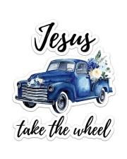 Jesus Take The Wheel Sticker - Single (Vertical) front