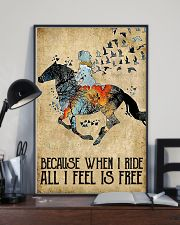 Horse Because When I Ride  11x17 Poster lifestyle-poster-2