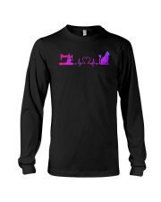 Quilting And Cat Heartbeat Long Sleeve Tee thumbnail