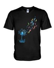 Dandelion Sharks V-Neck T-Shirt thumbnail